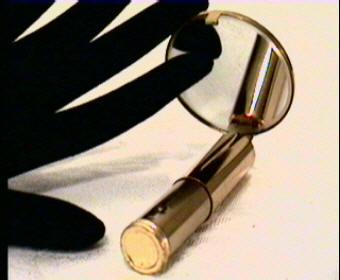 Vintage Lipstick Holder Tube Mirror Guilloche Enamel