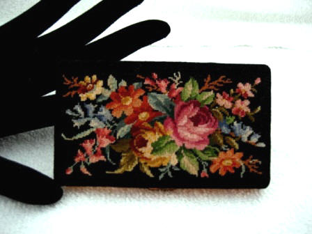 Vintage 1930 1940 petit point cigaretter card case made in Germany