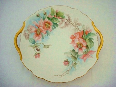 Limoges porcelain tray hand painted antique 1901 & Limoges 1901 Dessert Tray Hand Painted Antique Porcelain