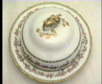 Gda Limoges Butter Dish Antique Porcelain France