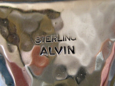 Early 1900 S Alvin 5 Piece Sterling Silver Hand Mirror