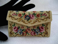 Vintage Austrian petit point coin change purse