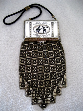 Whiting Davis Compact Purse 1920 S Mesh Handbag