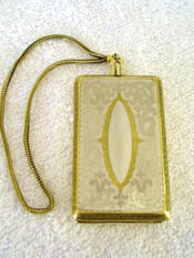 Evans 1920 Compact vanity dance purse gold gilt over German Silver