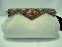 Delill French evening purse with Limoges porcelain 1930 - 1940