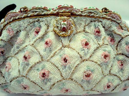 Vintage French beaded evening purse Freddy of Paris