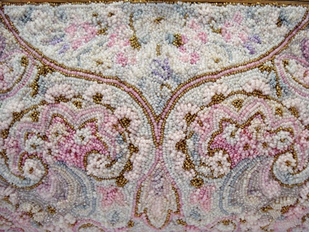French pastel paisley beaded evening bag Saks Fifth Avenue