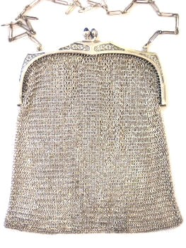 Whiting Davis Sterling Silver Mesh Purse