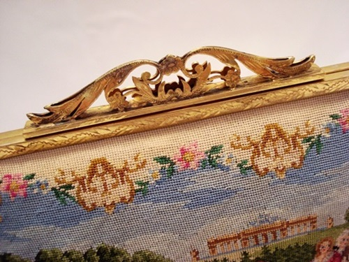 Made in Austria petit point embroidered purse