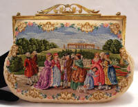 Petit point purse 2 scenes made in Austria