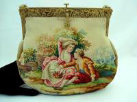 Antique Aubusson tapestry French purse