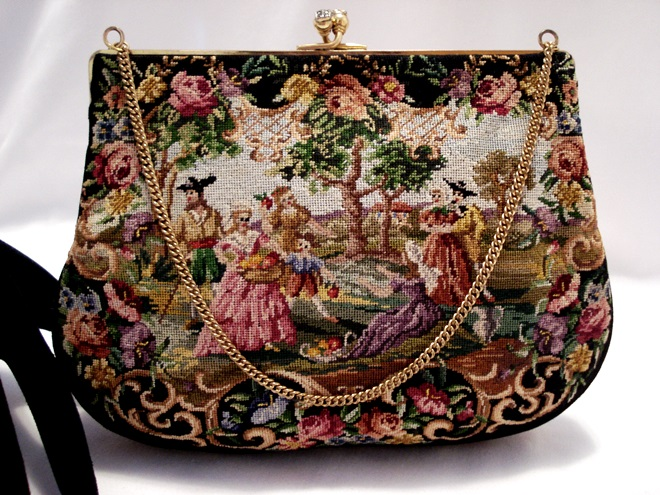 Vintage Walborg French made petit point purse
