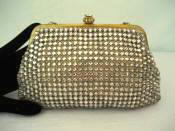 Vintage 1940's small Walborg rhinestone evening bag
