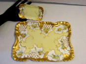 1897 Hand painted Limoges vanity dresser set of trays