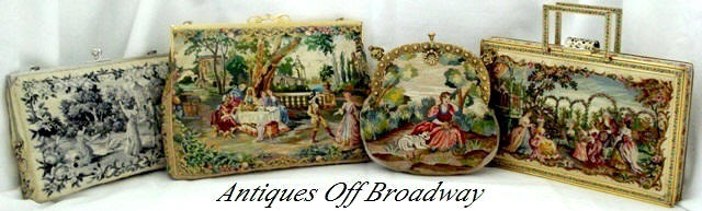 Antique petit point purses embroidered handbags