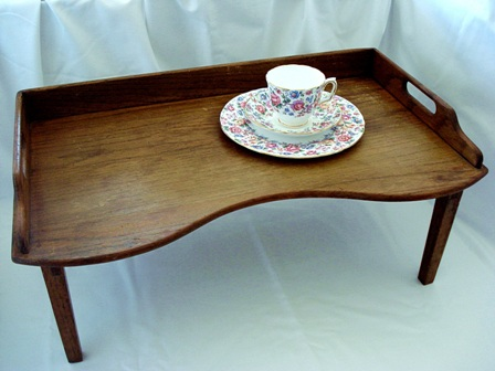 antique oak footed breakfast bed lap tray early 1900