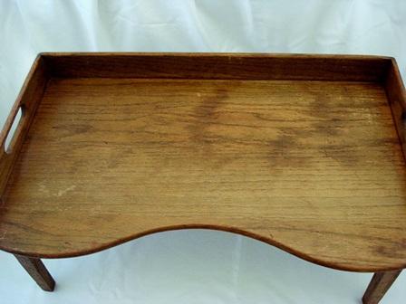 Antique Oak Footed Breakfast Bed Lap