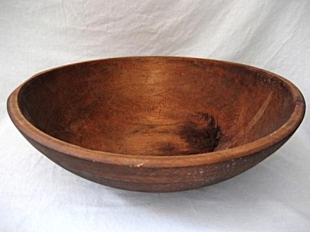 Dough Bread Bowl Large Primitive Wood Bowls