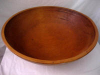 Huge rock maple 20 inch antique dough bread bowl Iowa
