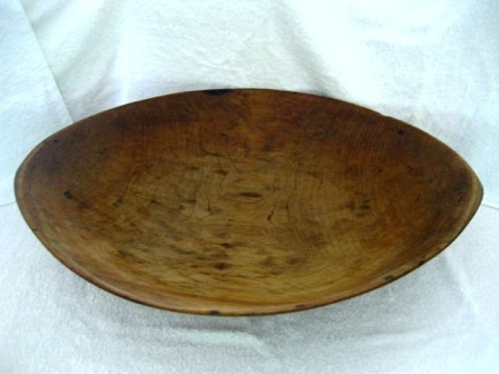 Antique 1900 huge dough bowl trencher 24 by 18 inches