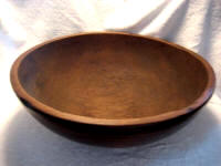 Mid 1800 dough bowl massive 22 inch rimmed and footed